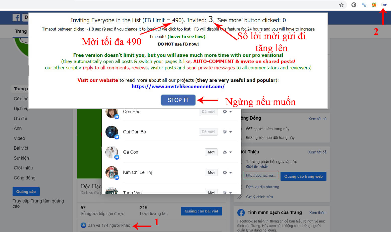 invite facebook post likers to like page