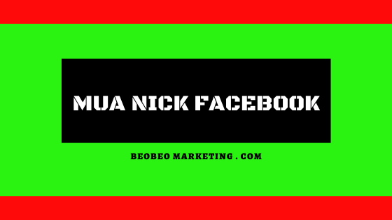 mua nick facebook